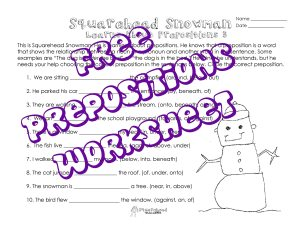 SQH Snowman- prepositions 3 STICKER