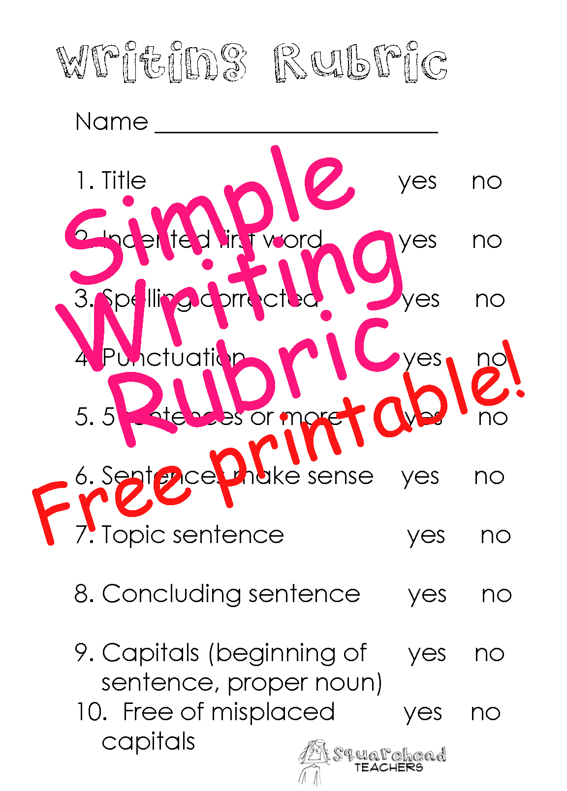 essay writing rubric for elementary students