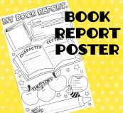 Book report poster STICKER