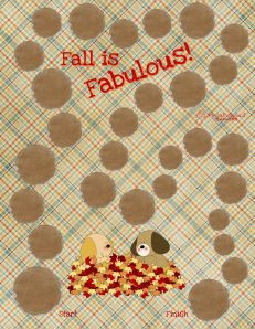 Fall is Fabulous Gameboard STICKER