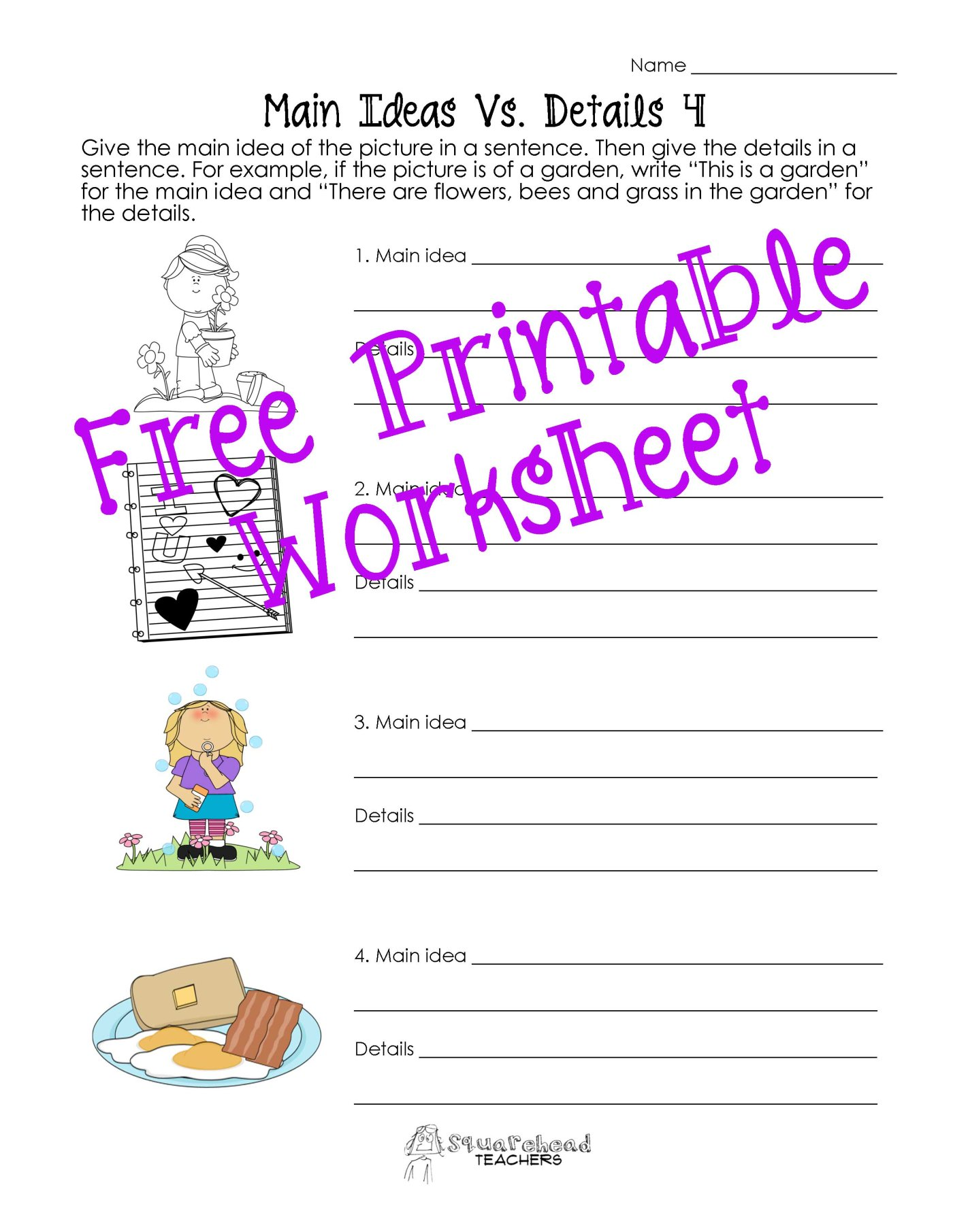 Main Idea Worksheets Grade 2 Rringband – Main Idea Worksheet