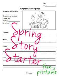 Spring story starter STICKER