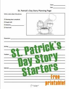 St. Patrick's Day Story Starters STICKER