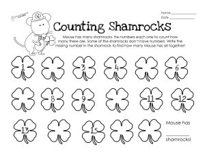 Counting Shamrocks STICKER
