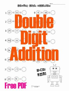 Double Digit Addition Robot STICKER