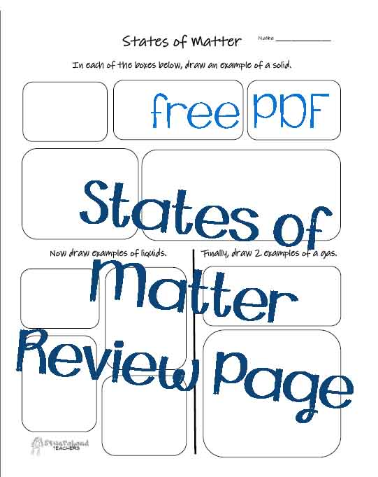 States of Matter Graphic Organizer | Squarehead Teachers