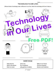 Technology in our lives STICKER