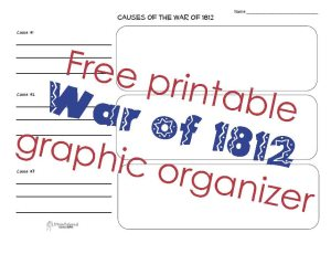 War 1812 G.O.  STICKER