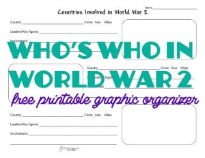 WW2 countries G.O. STICKER