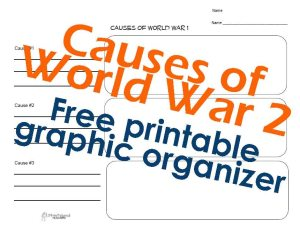 WW2 graphic organizer STICKER