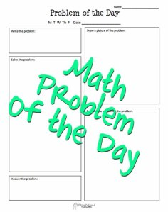 Math problem of the day STICKER