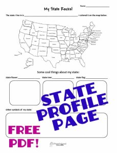 state profile STICKER