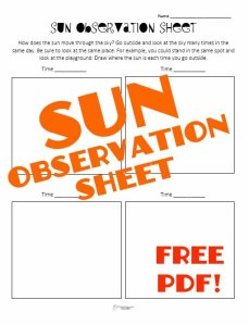 sun observation STICKER