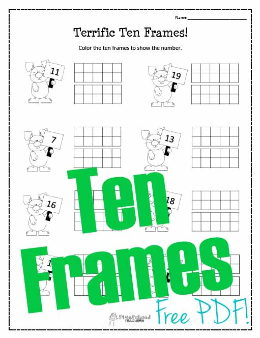 Spring Ten Frames Worksheet – Ten Frame Worksheets