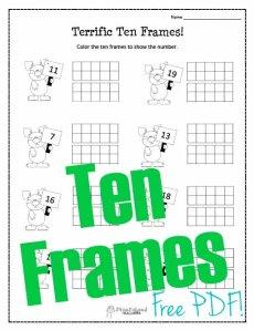 Ten Frame- Bunny STICKER