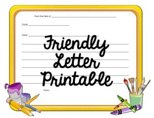 friendly letter STICKER