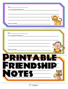 friendship notes 2 STICKER