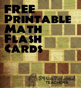 math flash cards STICKER