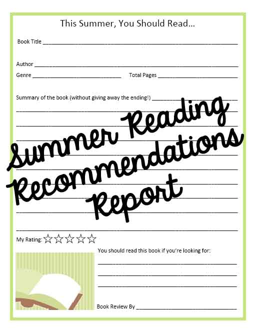 summer reading book reports Save all the book reports and make a book out of them at the end of summer one of my kids favorite ways to enjoy books is audio books we get a lot from the library but we also love audible.