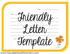 Friendly Letter STICKER 1