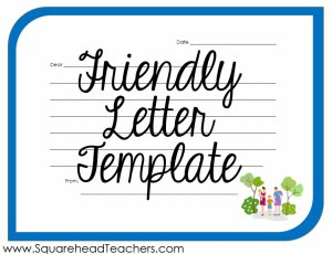 friendly letter STICKER 2