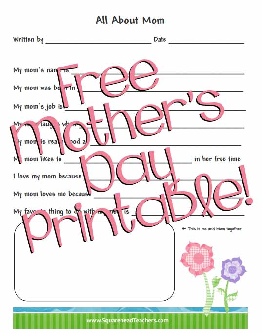 It's just an image of Sweet All About Mom Printable