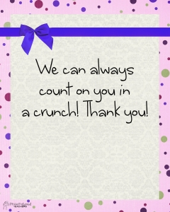thank you - crunch