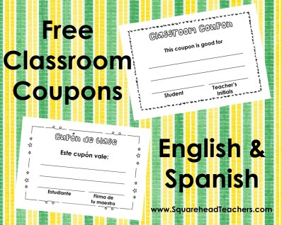 classroom coupons STICKER