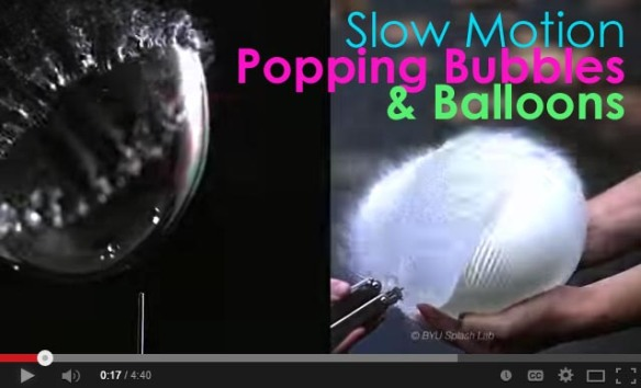 slow mo bubbles video