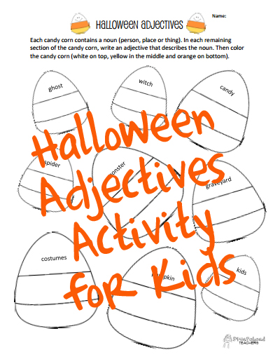 Halloween adjectives STICKER