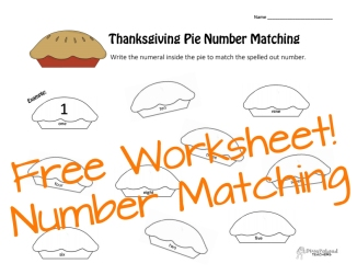 Thanksgiving number matching STICKER