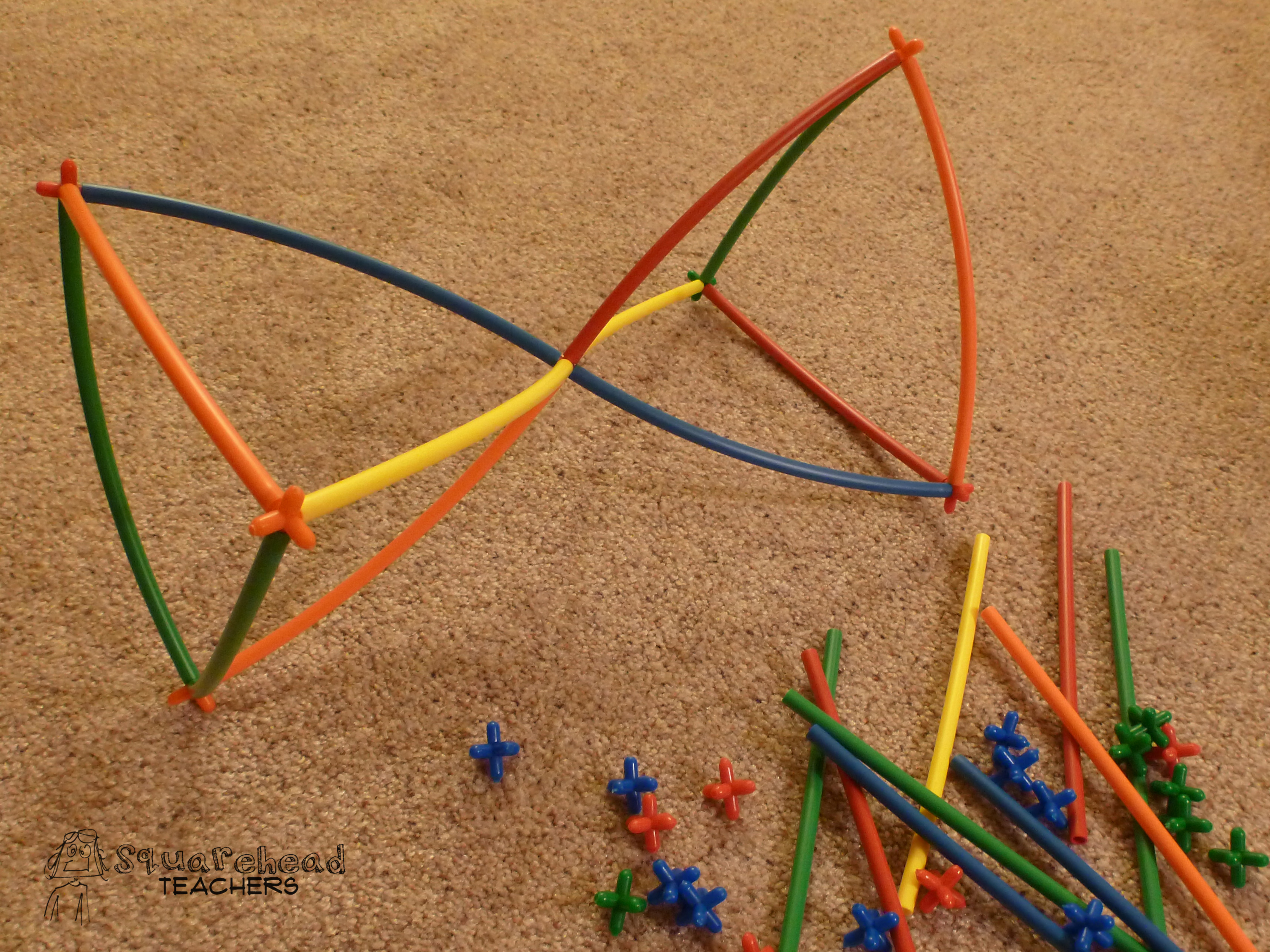 Giveaway roylco straws connectors set squarehead teachers - What can you make with straws ...