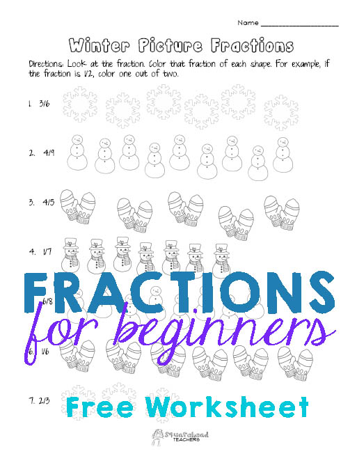 Basic Fraction Practice Winter Worksheet – Fraction Practice Worksheets