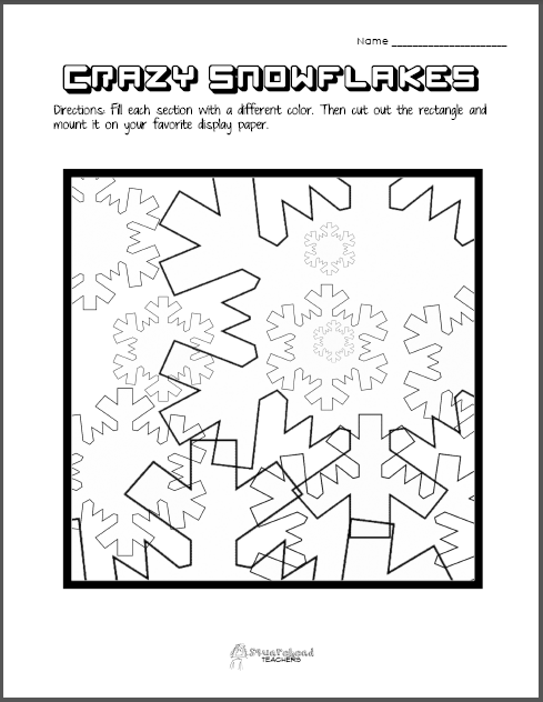 Snowflake Pattern Art STICKER