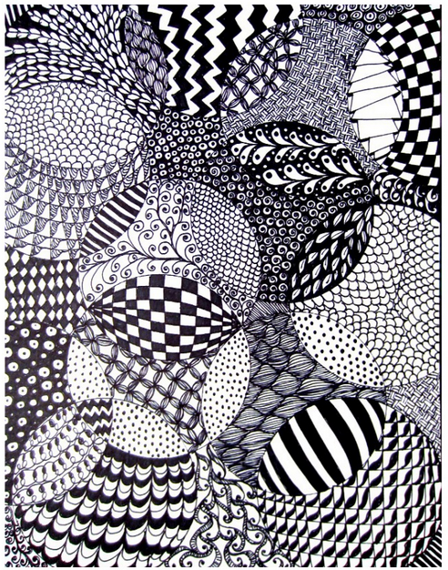 Zentangle by Tiny Rotten Peanuts