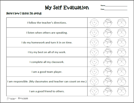 Self Evaluation Preview
