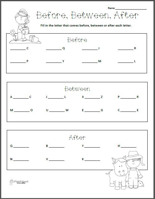 before between after letters worksheet squarehead teachers. Black Bedroom Furniture Sets. Home Design Ideas