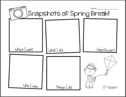 Spring Break Snapshot STICKER