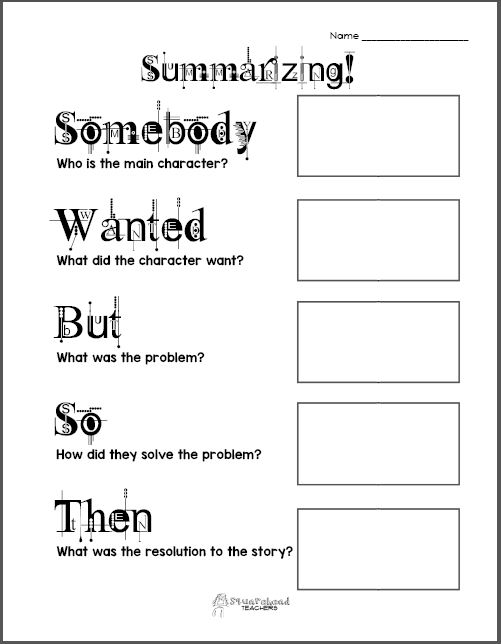 Printables Summarizing Worksheets For 4th Grade summarizing graphic organizer squarehead teachers 1 preview
