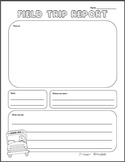 valentine's day reading comprehension worksheets 1st grade - Field Trip Report Free Printable