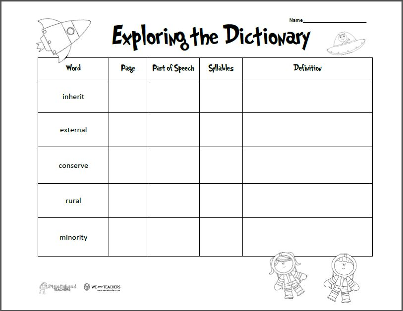 Exploring The Dictionary Preview on easter word search worksheet for math