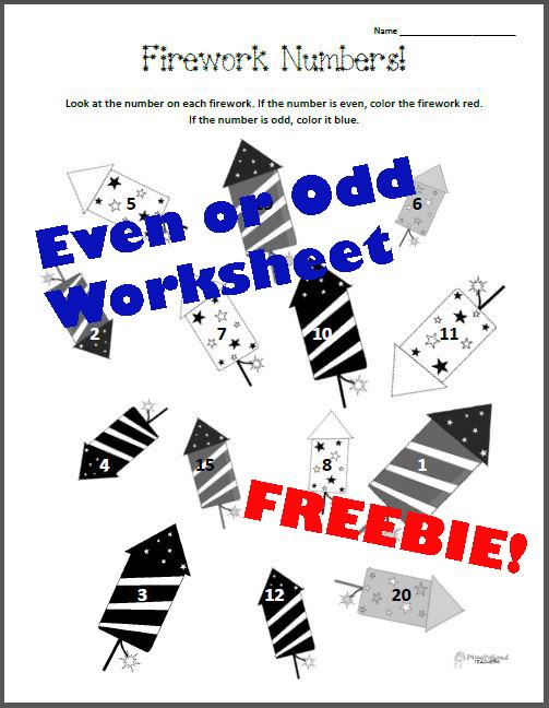 firework even odd number worksheet squarehead teachers. Black Bedroom Furniture Sets. Home Design Ideas