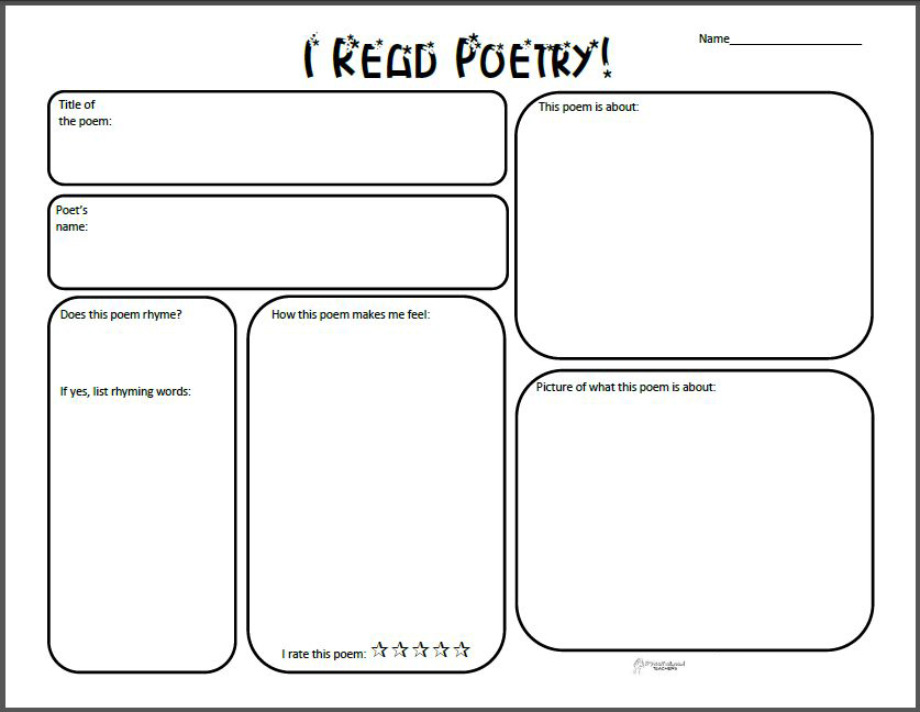 Poetry Review Graphic Organizer on Seasons Worksheet